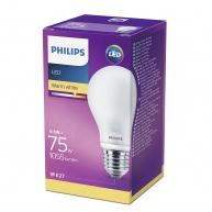 PHILIPS LED žárovka klasická A60 230V 8,5W E27 noDIM Matná 1055lm 2700K Sklo A++ 15000h (Krabička 1ks)
