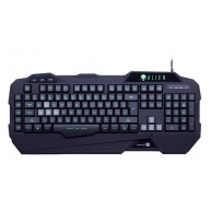 CONNECT IT Herní klávesnice CI-553 ALIEN pro hráče, LED podsvícení, USB, programovatelná, černá