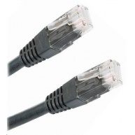 Patch kabel Cat5E, UTP - 0,25m, černý