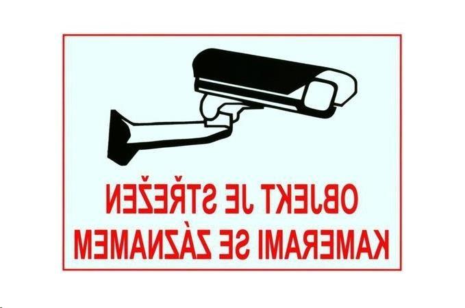 XtendLAN Bezpečnostní samolepka pro kamerové systémy, transparentní, zrcadlový tisk, 140x100mm