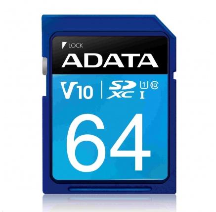ADATA SDXC karta 64GB UHS-I Class 10, Premier