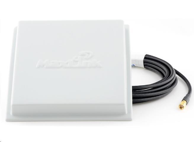 Maxlink panelová anténa 15dBi/2,4GHz, H35° V35°, pigtail 3m RP-SMA konektor