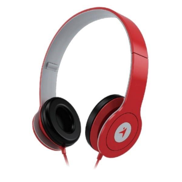 GENIUS sluchátka s mikrofonem HS-M450, červená