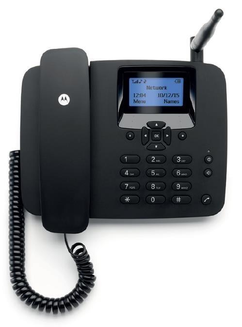 Motorola FW200L, stolní GSM telefon, černá