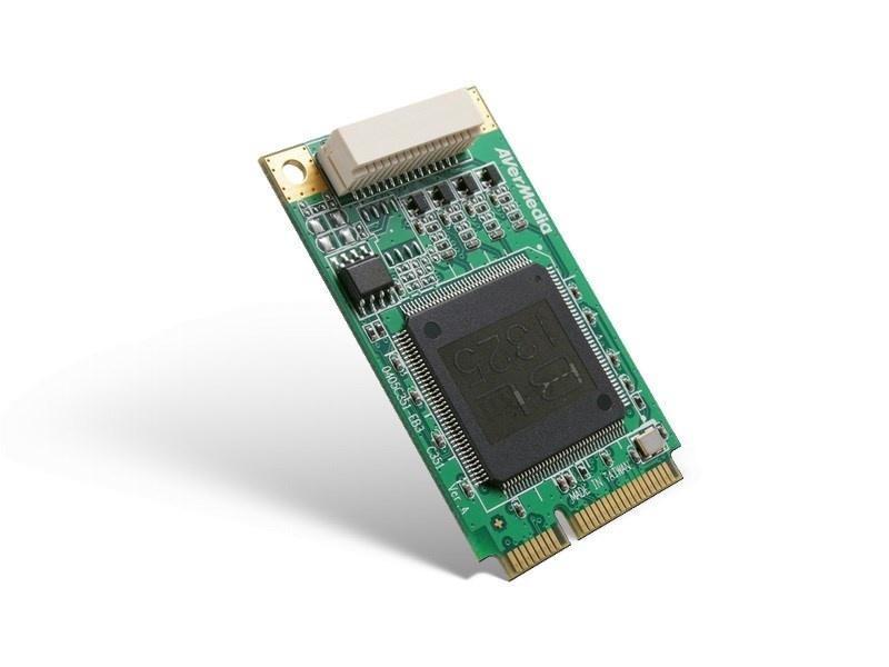 AVERMEDIA Dark Crystal SD Capture Mini-PCIe Quad (C351), nahrávací/střihová karta, industrial