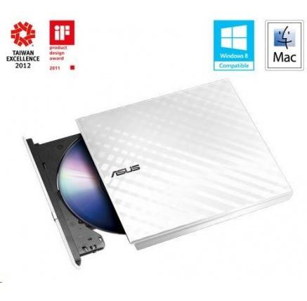 ASUS DVD Writer SDRW-08D2S-U LITE/WHITE, External Slim DVD-RW, white, USB