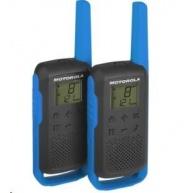 Motorola vysílačka TLKR T62 (2 ks, dosah až 8 km), modrá