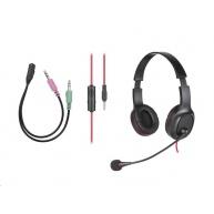 TRACER sluchátka s mikrofonem Office V2, černá, drátová, plná