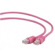 GEMBIRD Kabel UTP Cat5e Patch 0,25m, růžový