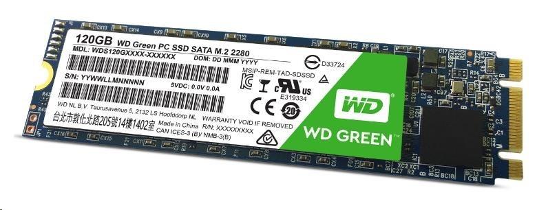 WD GREEN SSD WDS120G1G0B 120GB M.2, (R:540, W:430MB/s)