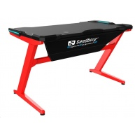 Sandberg herní stůl, Fighter Gaming Desk, červenočerný