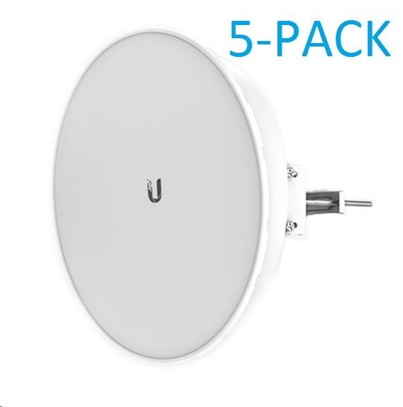 UBNT airMAX PowerBeam5 AC ISO 2x25dBi, 5-PACK [400mm, Client/AP/Repeater, 5GHz, 802.11ac, 10/100/1000 Ethernet]