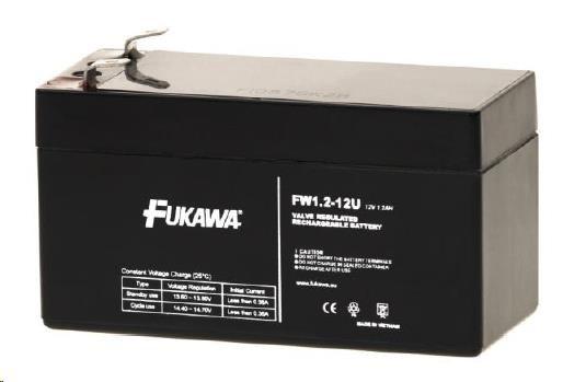 Baterie - FUKAWA FW 1,2-12 U (12V/1,2Ah - Faston 187) SLA baterie