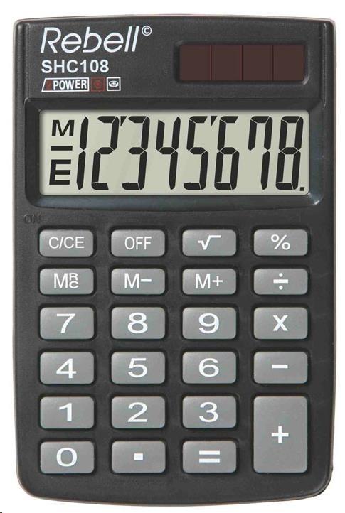 REBELL kalkulačka - SHC108 - černá