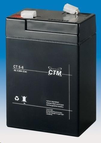 Baterie - CTM CT 6-5 (6V/5Ah - Faston 187)