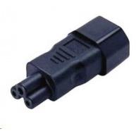 CONRAD IEC zástrčka C14 / zásuvka C5, 3pól., adaptér rovný, černá