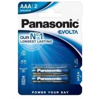 PANASONIC Alkalické baterie EVOLTA Platinum LR03EGE/2BP AAA 1,5V (Blistr 2ks)
