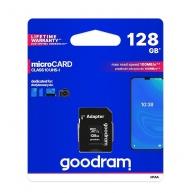 GOODRAM MicroSDXC karta 128GB M1AA, UHS-I Class 10, U1 + adaptér