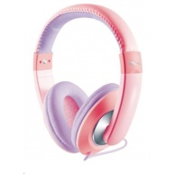 TRUST Sluchátka Sonin Kids Headphone, růžová (pro děti)