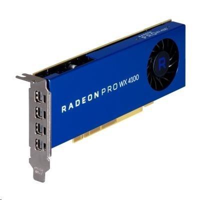 AMD Radeon Pro WX 4100 4GB GDDR5 PCIe x16 Graphics Card, 4xminiDisplayPort