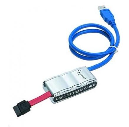 "GEMBIRD kabel adaptér USB 3.0 - SATA 2,5""/3,5"" (redukce + napájecí zdroj)"