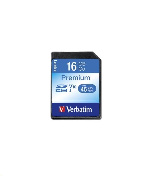 VERBATIM SecureDigital SDHC 16GB Class10