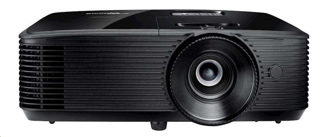 Optoma projektor S334e (DLP, FULL 3D, SVGA, 3 800 ANSI, 22 000:1, HDMI, VGA, Audio, USB, 10W speaker)