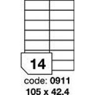 RAYFILM Štítky 105x42,4 univerzálne biele *R01000911A, 100 listů