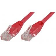 MicroConnect UTP CAT5e 0.5m, červený (CCA)