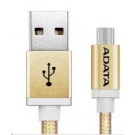ADATA Micro USB kabel - USB A 2.0, 100cm, zlatý