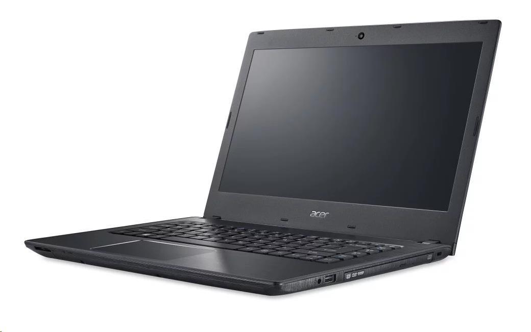 "ACER NTB TMP249-G2-M-38JG - i3-7130U,14""HD mat,4GB,256SSD,HD graphics,DVD,čt.karet,HDcam,W10P,black,2r on-site"