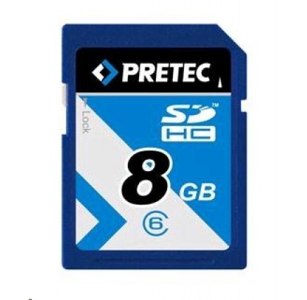 PRETEC Secure Digital SDHC 233x class 10 ( 31MB/s, 11MB/s) - 8GB