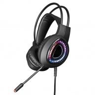 OMEGA herní sluchátka VARR Gaming RGB Headset HI-FI Stereo, mic USB 7.1, black/černá
