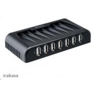 AKASA HUB USB  Connect 7+, 7x USB 2.0, s napájecím adaptérem, externí