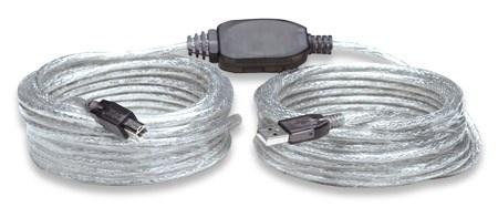 MANHATTAN Kabel USB 2.0 A-B aktivní propojovací 11m
