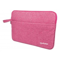 """MANHATTAN Pouzdro Laptop Sleeve Seattle, Fits Widescreens Up To 14.5"""", 383 x 270 x 30 mm, Coral"""