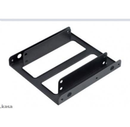 """AKASA montážní kit  pro 2,5"""" HDD do 3,5"""" pozice, 2x 2,5"""" HDD/SSD, černý"""