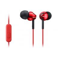 SONY stereo sluchátka MDR-EX110AP, červená