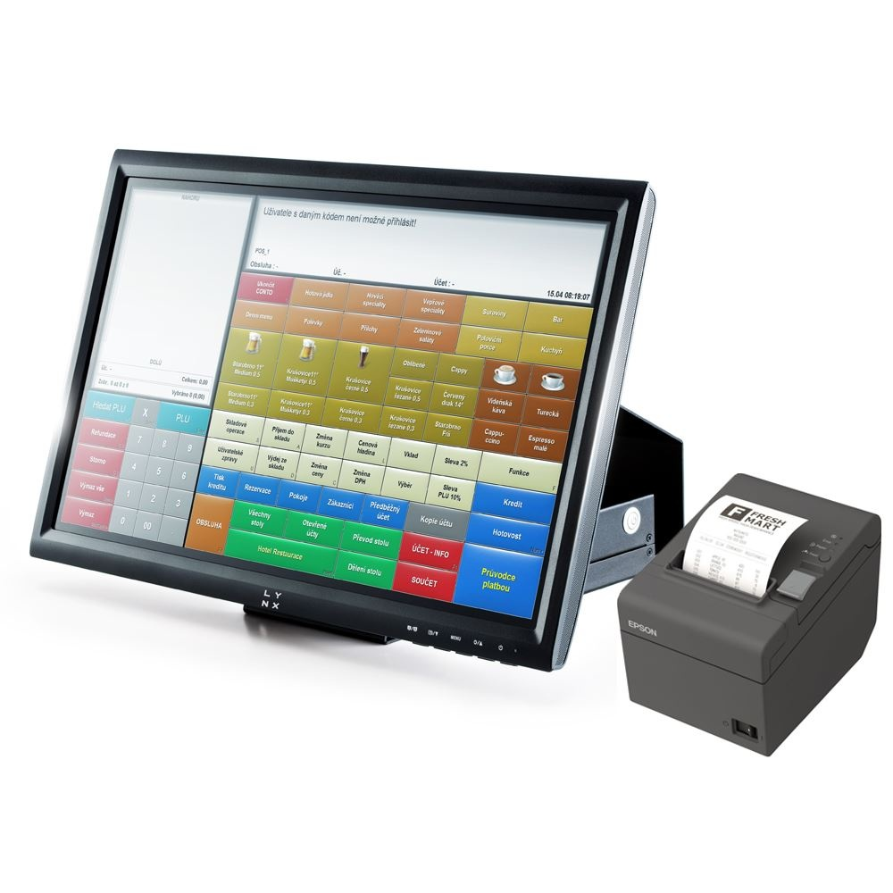 """LYNX Pokladní systém 15"""" odolný s Conto Standard Windows10 + zdarma instalace HW u zákazníka"""