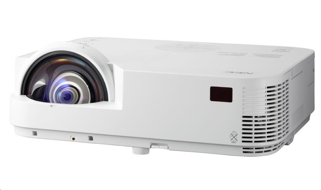 NEC Projektor DLP M303WS Short Throw (1280x800, 3000ANSI lm, 10000:1) 8,000h ECO, WXGA, 2xHDMI, RJ45, VGA, S-Video