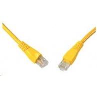 Solarix Patch kabel CAT5E UTP PVC 0,5m žlutý snag-proof C5E-114YE-0,5MB