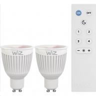 WiZ LED žárovka Colours GU10 + dálkové ovládání (krabička 2ks)