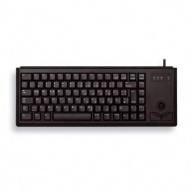 CHERRY klávesnice G84-4400 s trackballem/ drátová/ USB/ ultralehká a malá/ černá EU layout