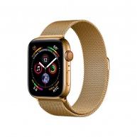COTEetCI ocelový magnetický řemínek pro Apple Watch 38 / 40mm zlatý