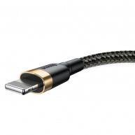 Baseus Cafule nabíjecí / datový kabel USB na Lightning 2,4A 0,5m, zlatá-černá