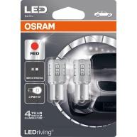 "OSRAM autožárovka ""P21W"" LEDriving® Standard 12V 2W BA15s červená (Blistr 2ks)"