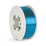 VERBATIM 3D Printer Filament PET-G 1,75mm ,327m, 1000g blue transparent