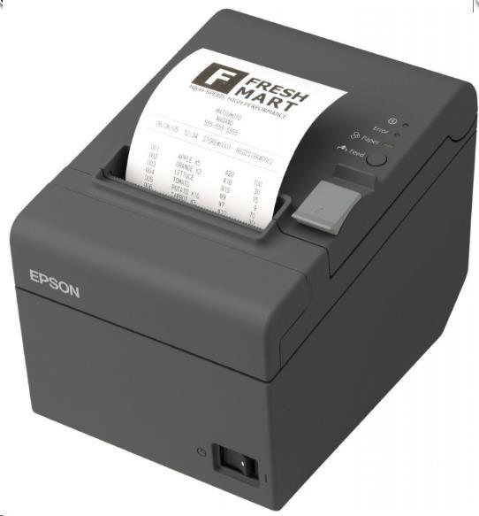 EPSON TM-T20II pokladní tiskárna, USB/RS232, tmavá, řezačka, se zdrojem