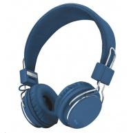 TRUST Skládací sluchátka Ziva Foldable Headphones for smartphone and tablet - modrá