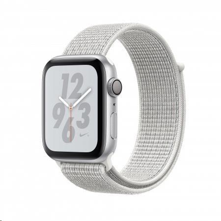 AppleWatch Nike+ Series4 GPS, 44mm Silver Aluminium Case with Summit White Nike Sport Loop